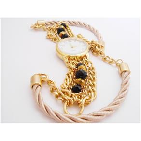 Relógio Feminino Bracelete Artesanal Corda Casual 9274169