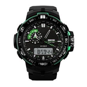 Relógio Masculino Skmei Anadigi 1081 Pt - Vd 9303852