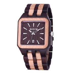 Relógio Masculino Skone Analógico Madeira 7398Bg - Mr 9730232