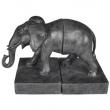 Porta Livros Elefante Decorativo BTC Resina - Cinza 10030713