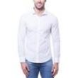 Camisa Masculina Manga Longa CM61C03CL770 Calvin Klein - Branca 8738738