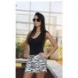 Saia Jeans Print Zebra 8138151