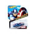 Brinquedo Hot Wheels Carros Marvel 1 Peça - Capitão América - BDM73 9278485