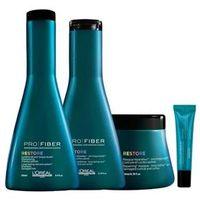 Loreal Pro Fiber Restore Shampoo ( 250ml ) , Condicionador ( 200ml ) , Máscara ( 200ml ) e Ampola Concentrate ( 15ml )