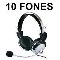 Kit com 10 Fones de ouvido com microfone e ajuste de volume - Weile WL - 301MV - 105DB - Para Lan House