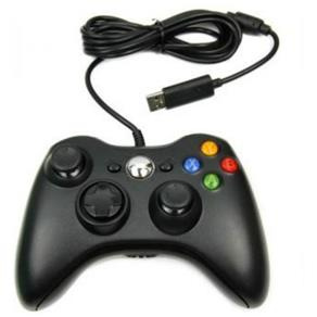 Controle com fio para Xbox 360 PC Preto 9842589