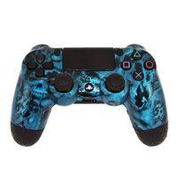 Controle Sem Fio - PS4 - Death Blue Skull - Alta Performance - GG Controles
