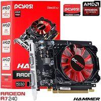 Placa De Video Pcyes Amd Radeon R7 240 Hammer 1gb Ddr3 128 Bits - Ph24012801d3