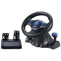 Volante Racer 3 em 1 para Playstation 2, PS3 e PC JS073 Preto / Azul Multilaser 10386457