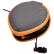 Bolsa de fone de ouvido - Sheng Diwei Sendio em forma de coração headset portátil Bolsa laranja