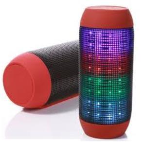 Caixa De Som Bluetooth Mp3 Sd Pen Drive Fm Vermelha Pulsa Conforme A Musica