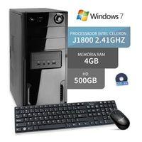 Computador Dual Core 4Gb Hd 500Gb Windows 7 Dvd 3Green Triumph Business Desktop
