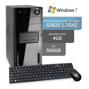 Computador Dual Core G1820 4Gb Hd 500Gb Windows 7 3Green Triumph Business Desktop