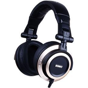 Fones de ouvido estilo V1 - cabeça Sômica HIFI Subwoofer Black Gold