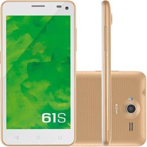 SMARTPHONE MIRAGE 61S 3G QUADCORE 1GB RAM DUAL CÂMERA 8MP+5MP TELA 5 ´ DUAL CHIP ANDROID 5.0 BRANCO DOURADO - P9018