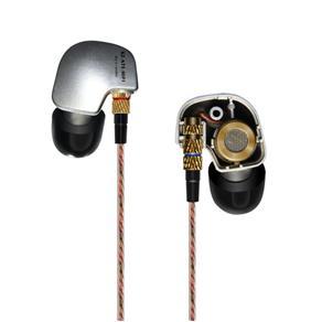 Fone de ouvido - KZ fones de ouvido ATE - prata grave sem febre Edição