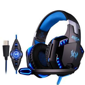 Fone de ouvido - Zhuo G2100 porque choque preto e azul e vibração fone de ouvido 71 canais full USB Edição