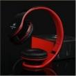 Fone de ouvido - I60 intone som estilo cabeça headset dobrável fio de fone de ouvido vermelho e preto
