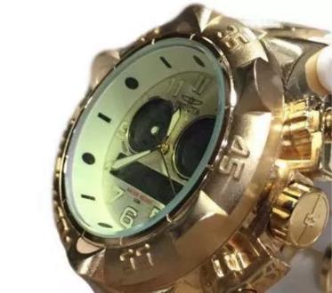 1a6bc337cbc Relógio Invicta Luxo Dourado Display Digital Analógico em Cariacica ...