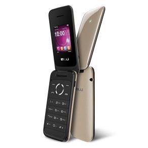 Celular Blu Diva Flex T370 Preto e Dourado, Dual Chip, Tela 1.8 ´, Câm VGA, Bluetooth, FM, MP3 / MP4