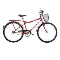 Bicicleta Aro 26 Houston Discovery Vivid com Cestinha Vermelha