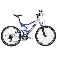Bicicleta Aro 26 Houston Mercury FS MR26FSJ com Suspensão Dupla e 21 Marchas - Azul