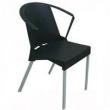 Cadeira Plástica para Escritório Shine Preta Cor Preta preto