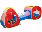 Toca Infantil 3 em 1 com 150 Bolinhas Triângulo + Cubo + Túnel