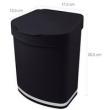 Cesto De Lixo Lixeira Plástica de Cozinha com Tampa 2,5l Preta preto