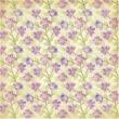 Folha Dulpa de Scrapbook Litoarte Ref. SD1 - 065 - Flores Lilás