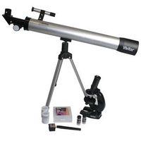 Kit Telescópio e Microscópio Vivitar VIVTELMIC30 Preto / Prata