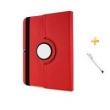Capa Case Samsung Galaxy Tab E - 7 ´ T113 / 115 Giratória 360º / Caneta Touch ( Vermelho )