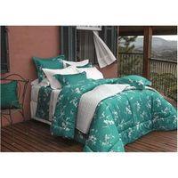 Kit Cobre - leito King Satinee Emerald 300 Fios com 2 Porta - Travesseiros - Kacyumara verde