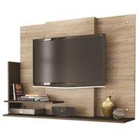 Painel Caemmun TV Plug para TV s de até 32 marrom chocolate