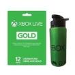 Xbox Live Gold 12 Meses + Squeeze de Metal Microsoft Xbox - Verde