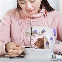 Máquina de costura - luz roxa - Início - mini luz pequena máquina de costura elétrica roxo