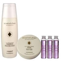Alfaparf Semi Di Lino Diamante Illuminating Kit Shampoo, Mask e Shine Lotion