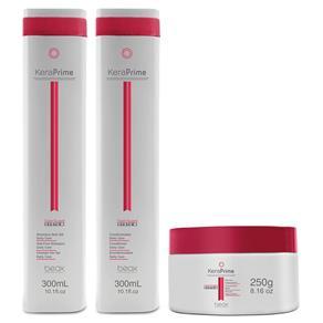 Beox Kit KeraPrime Daily Care Shampoo, Condicionador e Máscara Regeneradora