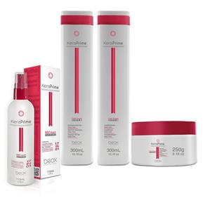 Beox Kit KeraPrime Daily Care Shampoo, Condicionador, Máscara Regeneradora e Tratamento BB Cream