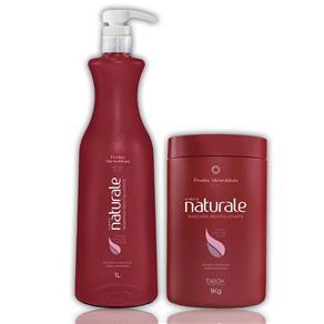 Beox Kit Naturale Shampoo e Máscara Revitalizante Frutas Vermelhas