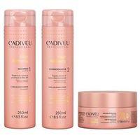 Cadiveu Hair Remedy Kit Shampoo, Condicionador e Máscara Reparadora
