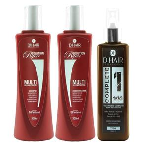 DiHair Shampoo ( 300ml ) , Condicionador ( 300ml ) e Leave - in ( 220ml )