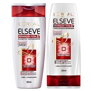 Elseve Reparação Total 5+ L`Oreal Paris - Kit De Shampoo 200 ml+ Condicionador 200ml Kit