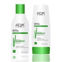 Felps Xmix Kit Manutenção Shampoo e Condicionador Extrato de Bamboo