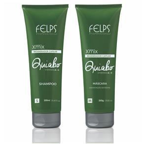 Felps Xmix Kit Shampoo e Máscara Regeneradora Capilar Quiabo - 2X250ml