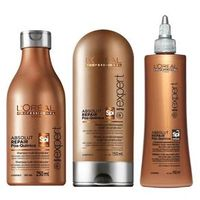 Kit L`Oréal Professionnel Absolut Repair Pós Química - Shampoo 250ml + Condicionador 150ml + Selador Multi - reconstrutor 150ml