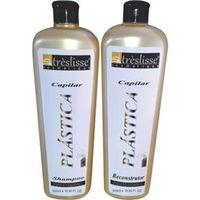 Kit Plástica Capilar Alise Fácil - 1 shampoo antiresiduos e 1 gloss de tratamento 500 ml