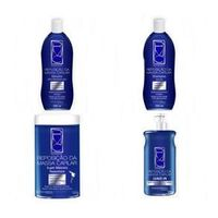 Kit Repositor De Massa capilar Sannabell Shampoo Condicionador Máscara Lea - vin Tratamento completo