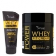 KIT SHAMPOO 200ML + MÁSCARA 480G WHEY FIT CREAM YENZAH