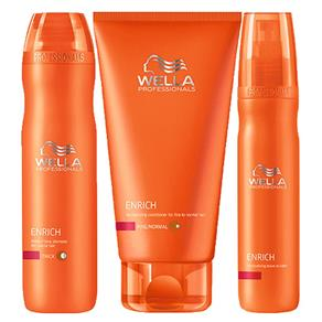 Kit Shampoo + Condicionador + Leave - In Wella Professionals Enrich